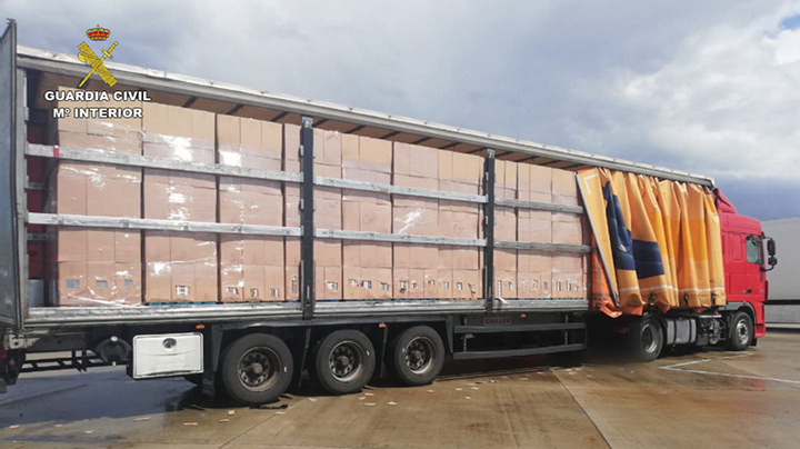Operación Pastela - Camión de tabaco de contrabando